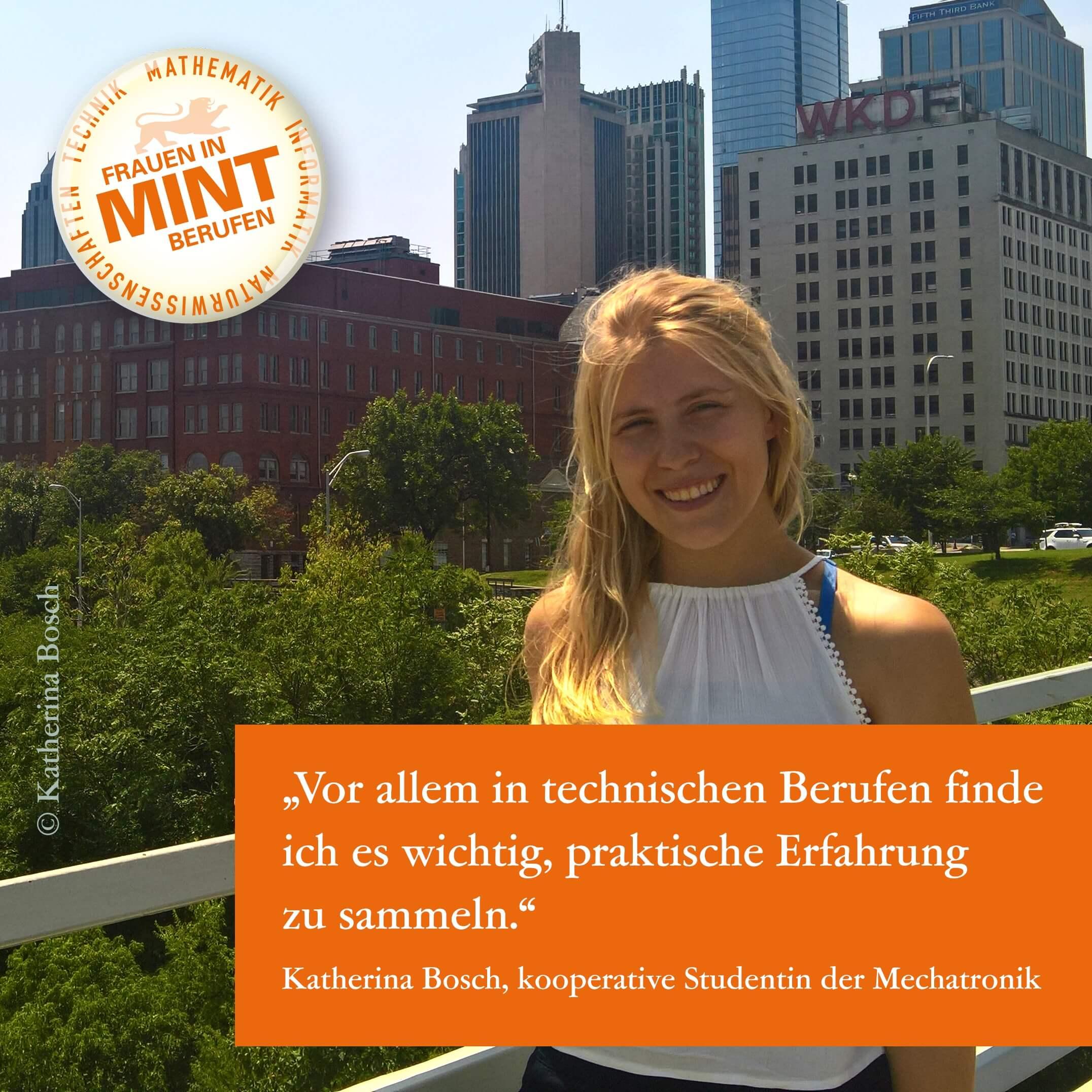 Ausbildung und Studium in einem: Katherina studiert kooperativ