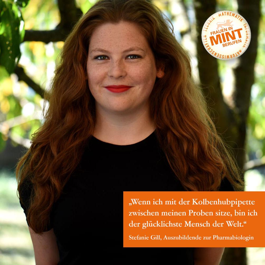 Lust auf naturwissenschaftliche Praxis: Stefanie wird Pharmabiologin