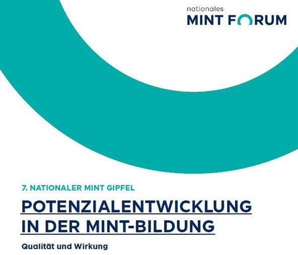 Logo des 7. Internationalen MINT-Gipfels, welcher unter dem Motto Potenzialentwicklung in der MINT-Bildung stattfindet.
