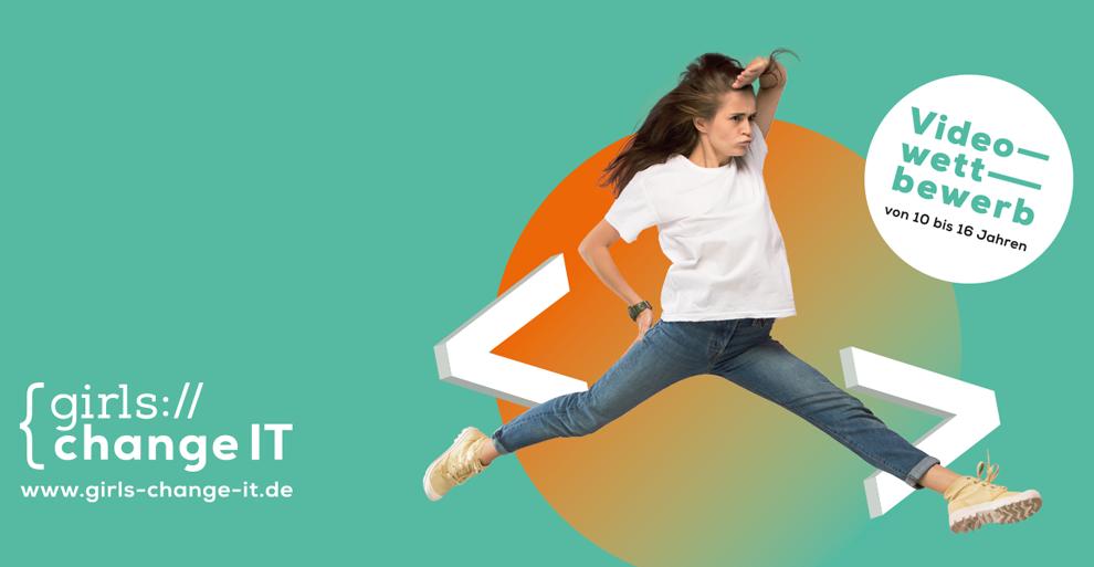 Logo des Videowettbewerbs der Initiative Girls-Change-IT.