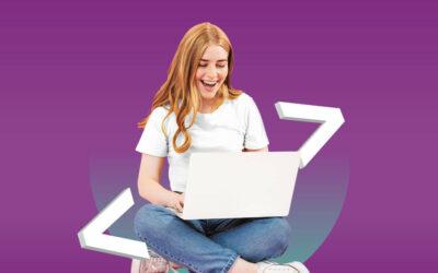 Mit Klick auf dieses Bild einer jungen Programmiererin gelangen Sie zum Beitrag zu CyberMentor