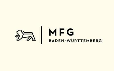 Mit Klick auf dieses Logo gelangen Sie zum Bündnispartner-Porträt der MFG Innovationsagentur für IT und Medien Baden-Württemberg