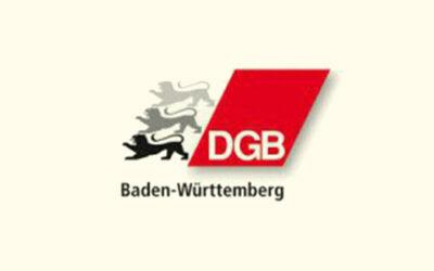 Mit Klick auf dieses Logo gelangen Sie zum Bündnispartner-Porträt der DGB Baden-Württemberg