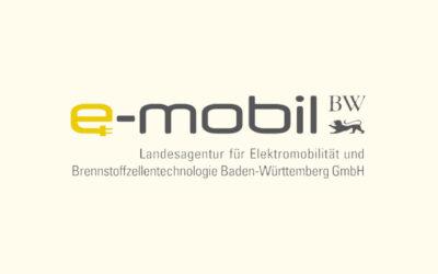 Mit Klick auf dieses Logo gelangen Sie zum Bündnispartner-Porträt der e-mobil Baden-Württemberg