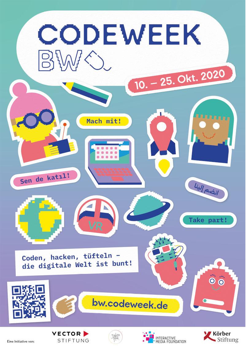 Das Plakat zur Code-Week 2020.