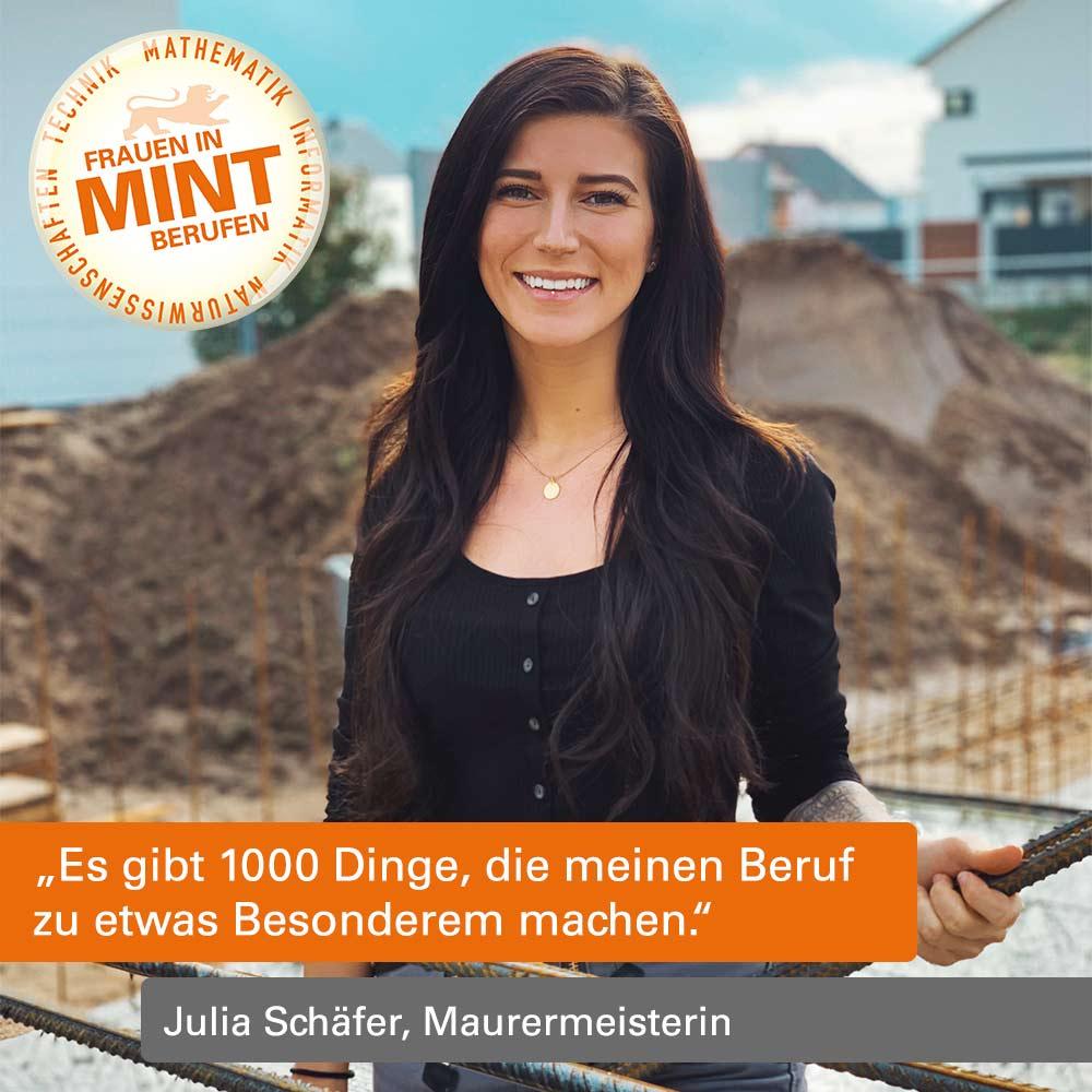 Mit Klick auf dieses Bild von Maurermeisterin Julia Schäfer gelangen Sie zum Beitrag.
