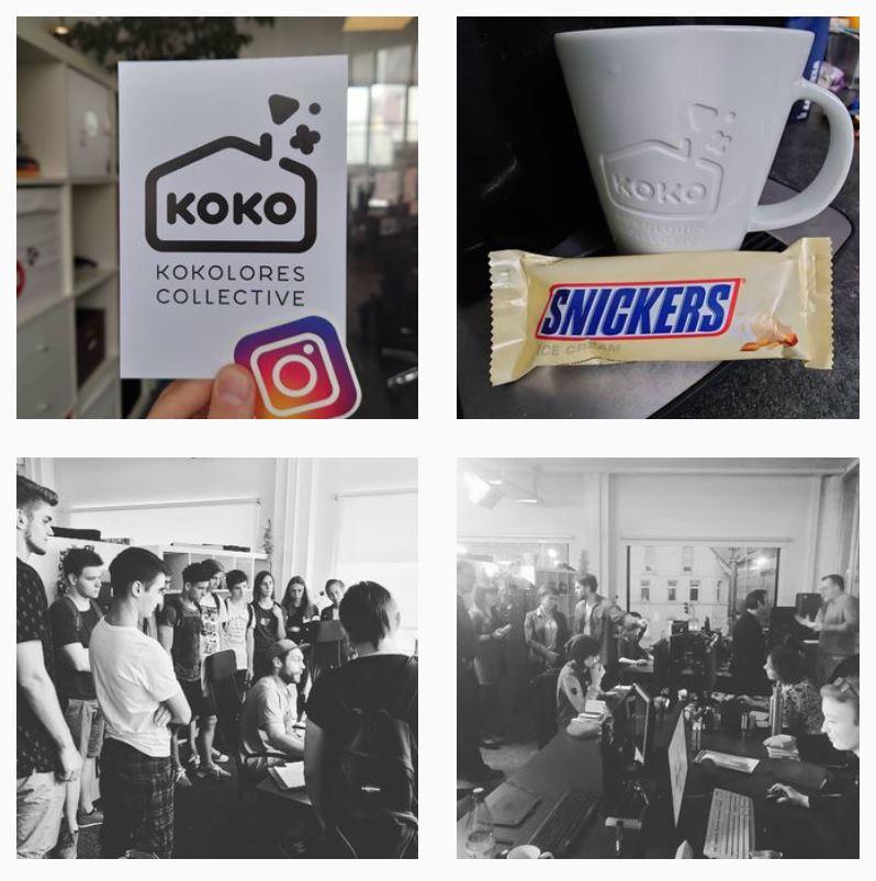 Screenshot aus dem Instagram-Feed von Kokolores Collective