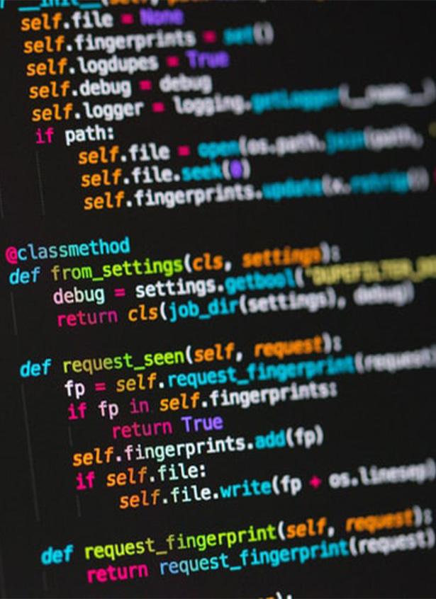 Das Foto zeigt einen Code.