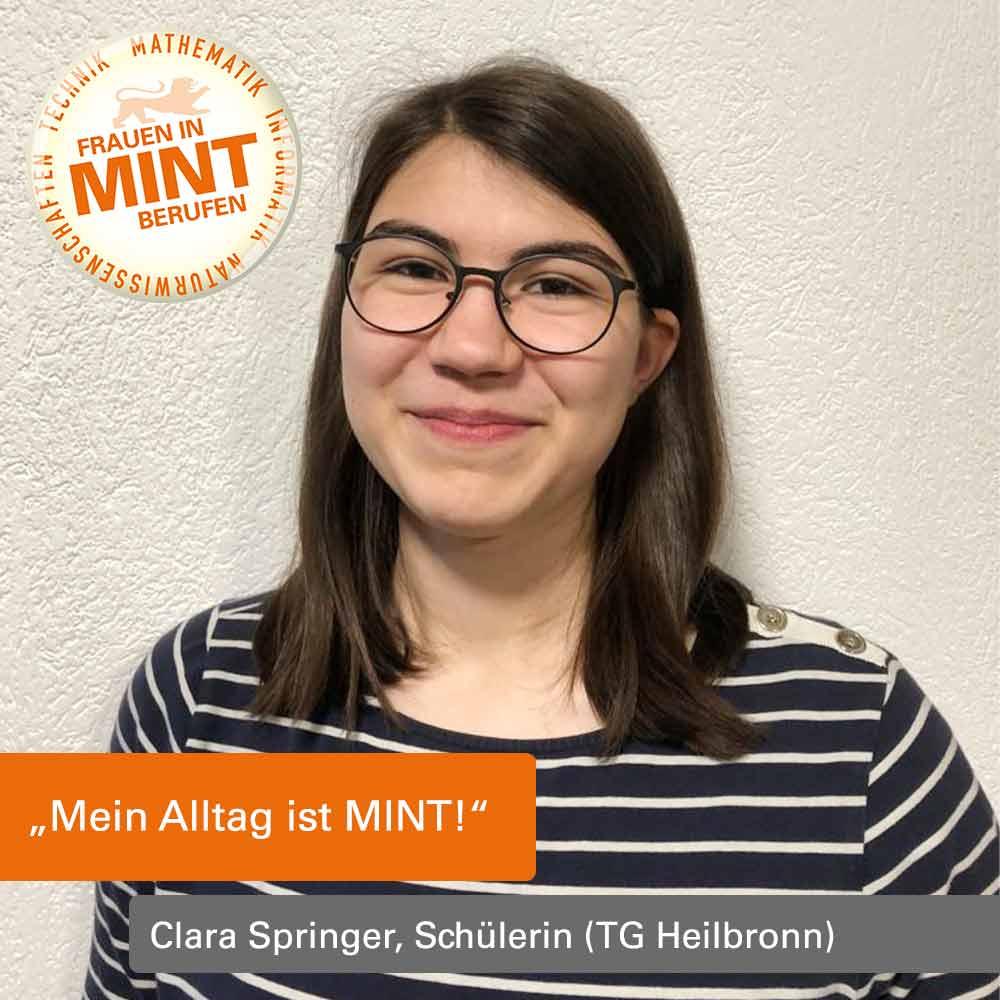 Das Bild zeigt die MINT-begeisterte Schülerin Clara Springer