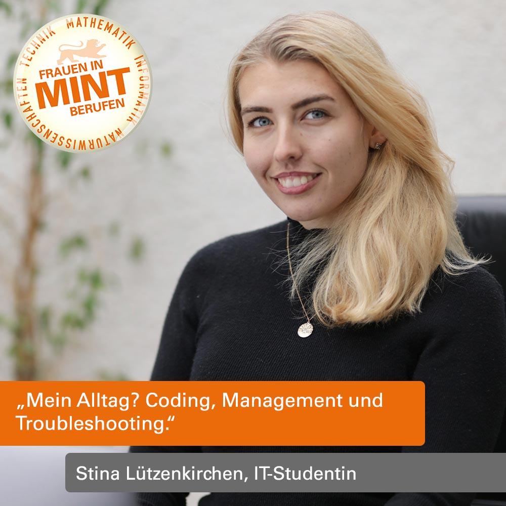 Mit Klick auf dieses Bild von Stina Lützenkirchen von der Coding-School 42 gelangen Sie zum Porträt.